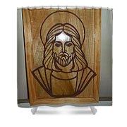 Jesus Frame Shower Curtain