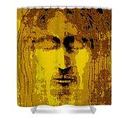 Jesus Image Golden Yellow Shower Curtain