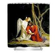 Jesus In Gethsemane Shower Curtain