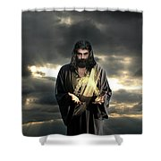Jesus In The Clouds Shower Curtain