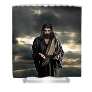 Jesus In The Clouds With Glory Shower Curtain