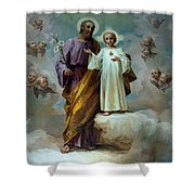 Jesus In White Shower Curtain