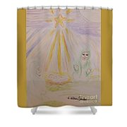 Jesus Is Born Shower Curtain