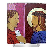 Jesus Is Condemned Shower Curtain