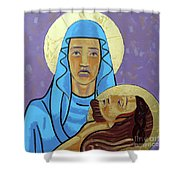 Jesus Is Taken Down From The Cross Shower Curtain