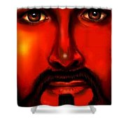 Jesus Is Watching Over Us Shower Curtain