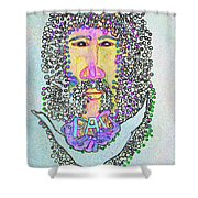 Jesus King Of Peace Shower Curtain