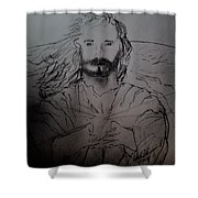 Jesus Light Of The World Full Shower Curtain