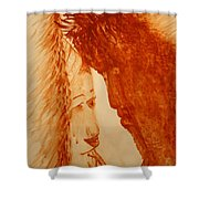 Jesus Meets Mother Mary On The Road To Calvary Shower Curtain