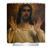 Jesus Meets The Daughters Of Jerusalem. Jesus Comfort Them. 8. Station Of The Cross Shower Curtain