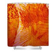 Jesus On Calvary Meets His Mother Mary Shower Curtain