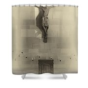 Jesus On The Cross Chapel Icon Shower Curtain