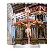 Jesus On The Cross In San Ramon, Bolivia Shower Curtain