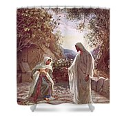 Jesus Revealing Himself To Mary Magdalene Shower Curtain by William Brassey Hole