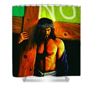 Jesus Says No Shower Curtain