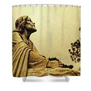 Jesus Teach Us To Pray - Christian Art Prints Shower Curtain