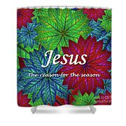 Jesus The Reason For The Season Christmas  Shower Curtain