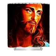 Jesus Thinking About You Shower Curtain by Pamela Johnson