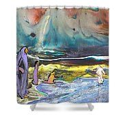 Jesus Walking On The Water Shower Curtain