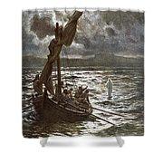 Jesus Walking Upon The Sea Shower Curtain