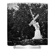 Jesus With Cross Shower Curtain