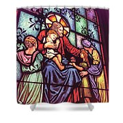 Jesus With The Children Shower Curtain