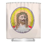 Jesus With The Crown Of Thorns Shower Curtain
