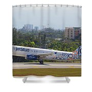Jet Blue Blues Brothers Shower Curtain