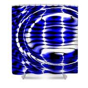 Jet Blue Shower Curtain