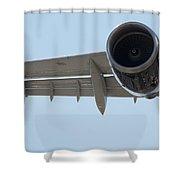 Jet Engine Detail Shower Curtain
