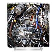Jet Engine Shower Curtain
