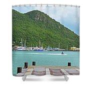 Jet Ski On The Lagoon Caribbean St Martin Shower Curtain
