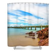 Jetty By The Sea Shower Curtain