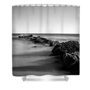 Jetty In The Sea Shower Curtain