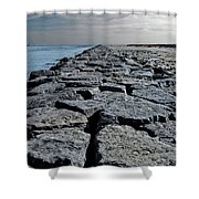 Jetty Over The Coast Shower Curtain