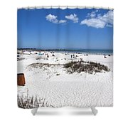 Jetty Park At Cape Canaveral In Florida Usa Shower Curtain