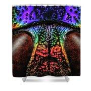 Jewel Beetle Detail Shower Curtain