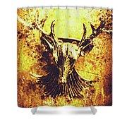 Jewel Deer Head Art Shower Curtain