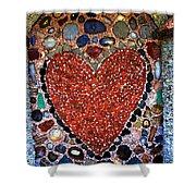 Jewel Heart Shower Curtain