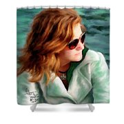 Jewel Of Contemplation Shower Curtain