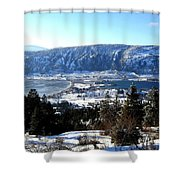 Jewel Of The Okanagan Shower Curtain by Will Borden