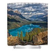 Jewel Of The Rockies Shower Curtain