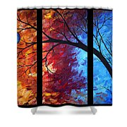 Jewel Tone II By Madart Shower Curtain