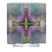 Jeweled Cross Shower Curtain