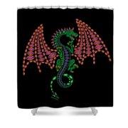 Jeweled Dragon Shower Curtain