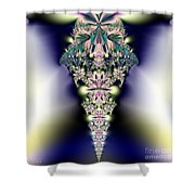 Jeweled Icicle Fractal 136 Shower Curtain