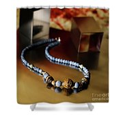 Jewelry Shower Curtain by Agusti Pardo Rossello