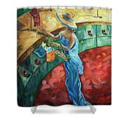 Jewelry Shopping Shower Curtain