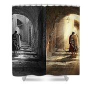 Jewish - Evening Prayers 1934 - Side By Side Shower Curtain