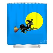 Jewish Flying Witch Shower Curtain